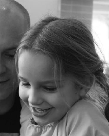 Flicka och pappa